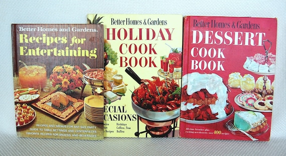 Set of 3 vintage better homes and gardens cookbooks 1973 - Better homes and gardens cookbook 1968 ...