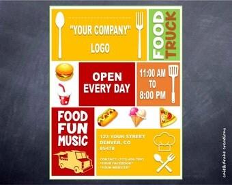 Food Truck Sale Business Restaurant Flyer Digital Printable