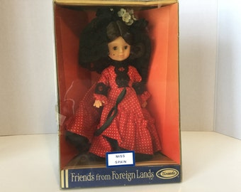 Vintage Friends From Foreign Lands Doll Miss Spain Doll Uneeda Doll NRFB