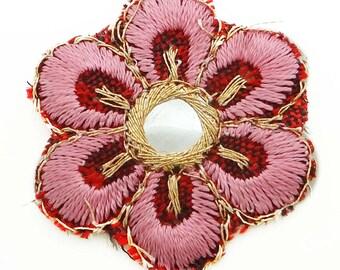 Embroidery Applique, Designer Applique, Indian Applique, Mirror Sequin, Floral Applique, Sewing Accessories By 12 Piece EMA129L