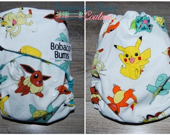 OS One Size Pokemon Character Toss AI2 All in Two Cloth Diaper