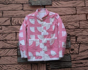HAND MADE womens quilted chore jacket