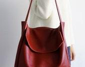 SALE, FOKS FORM Tote Bag 05, Minimal leather tote bag, handbag, shoulder bag