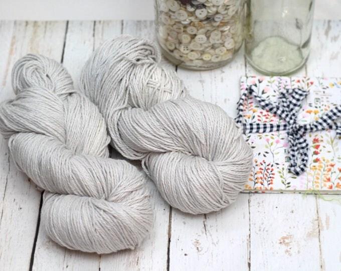 Hand Dyed Knitting yarn Milk Cotton handdyed Mushroom in KESSIE, pearl gray