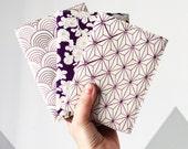 Custom Made for Erin : A5 Notebook Cover in Vintage Black Kimono Silk