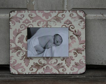 Handpainted distressed wood frame