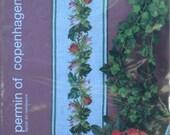 Rose Buds Flowers in a Row – Permin of Copenhagen – Danish Art Needlework – Bell Pull Chart 155175
