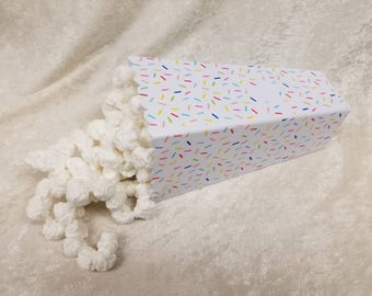 Movie Popcorn Container with Sprinkles  or Junk Food Designs
