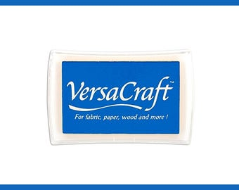 Ultramarine Blue Versacraft Inkpad, Tsukineko Multipurpose Ink for Paper, Fabric, Wood and more