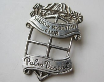 Vintage 60s Shadow Mountain Resort Club Palm Desert Sterling Silver Bolo Tie