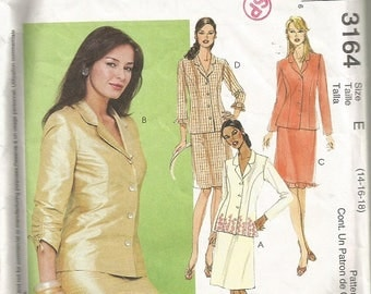 McCall's 3164 Misses Jacket and Skirt Pattern SZ: 14-18