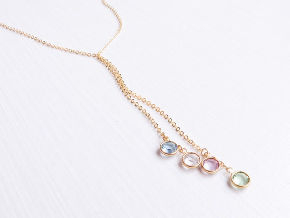Birthstone Lariat Necklace