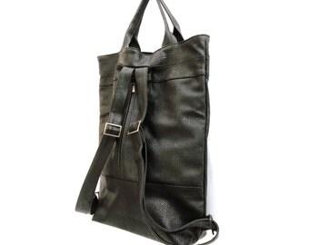 vegan Backpack purse, laptop backpack, convertible bag, vegan backpack,backpack women, travel backpack, diaper bag backpack