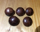 Lot of vintage leather buttons