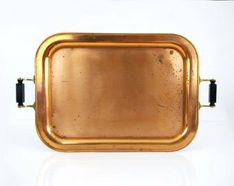 Vintage Copper Tray / Large Universal Landers Frary and Clark serving platter