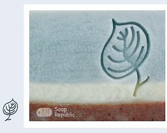 SoapRepublic Leaf  Acrylic Soap Stamp / Cookie stamp