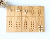 1-10 Number Board -- Waldorf Montessori School Toy