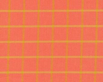 """Broadcloth-45""""-Salmon/Amber Plaid"""