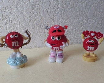 Valentine M & M Collectibles, Two Toppers and One Candy Holder.