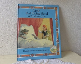 Little Red Riding Hood and The Golden Goose Story Book, Like New Condition, 1990. Hardcover Book.