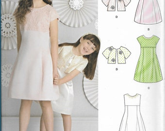 Simplicity Sewing Pattern 8271 HH Child's Girls' Dress and Jacket New UNCUT