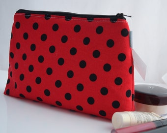 Small Cosmetic Bag, Gift for Teen, Handmade, Ready to Ship, Zookaboo