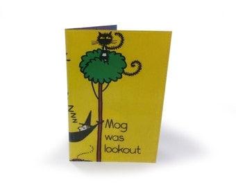 Meg & Mog Passport Cover -  Vintage Book Page in Vinyl