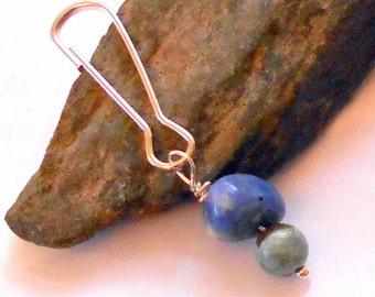 Blue Sodalite and Rhyolite Gemstone Pet Charm