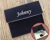 personalized WALLET POUCH / kids wallet/ mens wallet/ boys wallet/ girls wallet/ womens wallet - black