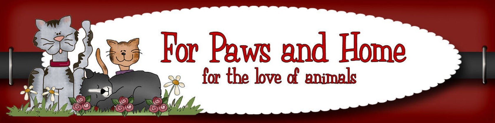 For Paws and Home Handmade Pet supplies for the Love of Animals