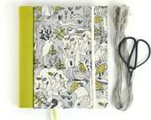 Fabric journal // WOODLANDS hardbound spiral notebook jotter diary