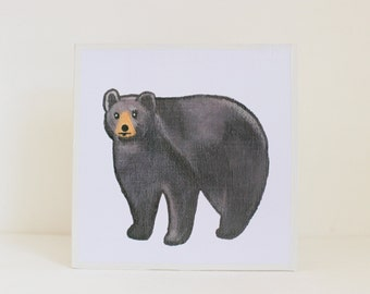 bear, woodland nursery art- black bear art print- forest animals- nursery woodland art- animal print- nursery forest -bear - redtilestudio