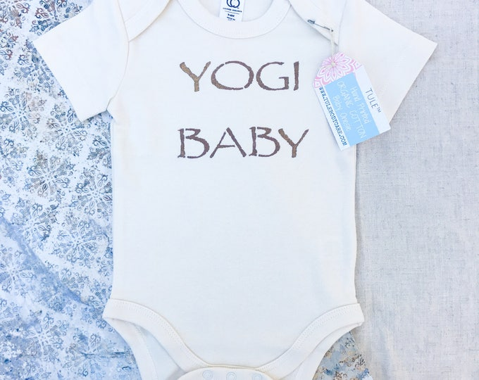 Featured listing image: Organic Cotton Baby Onesie-Yogi Baby