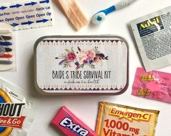 Bachelorette Survival Kit, Bachelorette Party Kit, Bachelorette Party Favors, Weekend Survival Kit, Bachelorette Recovery Kit, Bride Tribe