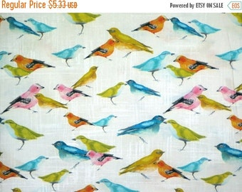 ON SALE SPECIAL--Colorful Birdies Print Pure Cotton Fabric--One Yard