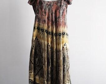 70s/Little Cactus/Boho/Maxi Dress