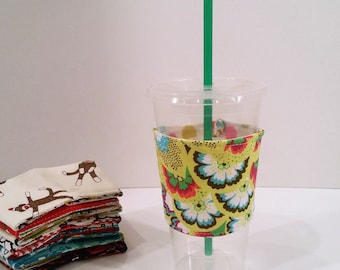 Eco-Friendly Cofffee/Tea Sleeve - Amy Butler