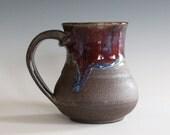 Coffee Mug, 10 oz, handthrown ceramic mug, stoneware pottery mug, unique coffee mug