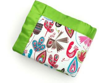 Baby Girl Blanket - Birds - Baby Blanket