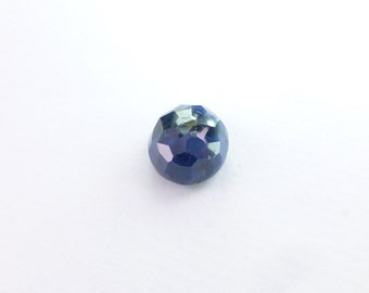 Blue SAPPHIRE. 100% Natural. Blue Unheated / Untreated. Oval Rose Cut. Freeform. Can Be Drilled. Geometric. 11.12cts. 13x12x6 mm (S2044)