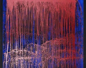 Pat Steir Silkscreen Poster for Lincoln Center Midsummer Night Swing, 1993