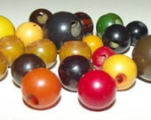 Vintage Buttons ~ Bakelite Buttons Multi Color Bakelite Ball Buttons