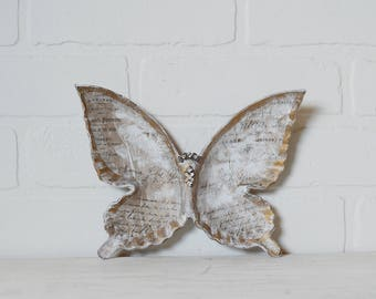 French Butterfly Dish, Butterfly Dish, Gold Butterfly Dish, Gold Butterfly, Shabby French, Butterfly Jewelry, Dish, Butterfly Trinket Dish