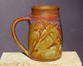 Big Stoneware Mug, Rustic, 30oz. Coffee,Tea, Huge Beer Stien, Handmade Pottery Mug, Microwavable, Woodsy, Cabin,Cottage Decor,Gift for Him