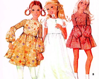 McCalls 2406 UNCUT Girls Dress Flower Girl Size 8 Breast 27 c 1970