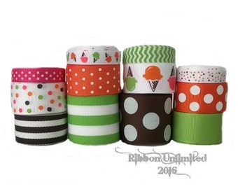 24 Yds SWEET TREAT  wholesale grosgrain ribbon collection   Low Shipping Cost