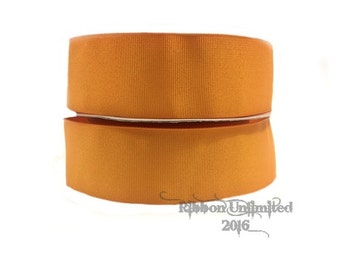 "10 Yards WHOLESALE 1.5"" Solid Pumpkin grosgrain ribbon LOW SHIPPING Cost"