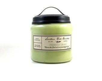 Fresh Cut Grass Candle - Hand Poured Candle - Large