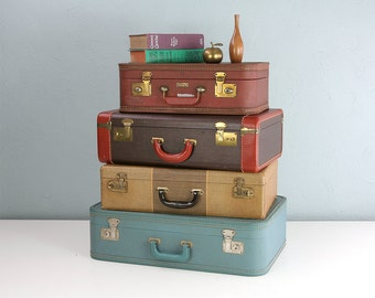 RESERVED -- Vintage Luggage Set of Four