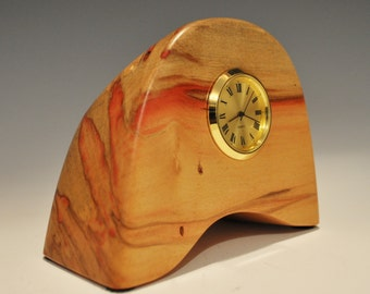 Flamed Box Elder Clock